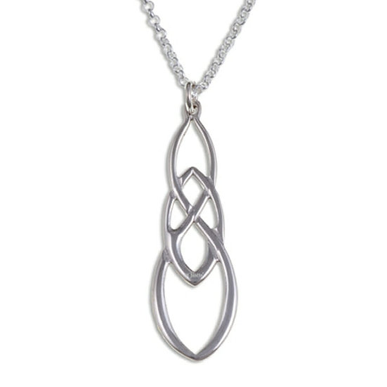 Linked Knot pendant - silver