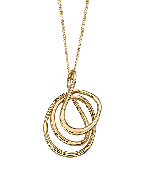 Yellow Gold Wire Wrap Pendant