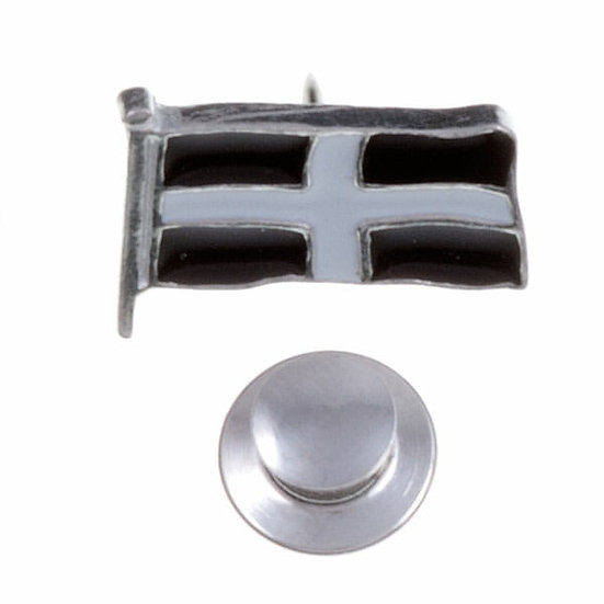 St Piran flag lapel pin - Tin