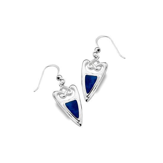 Celtic Shield Earrings with Gemstone