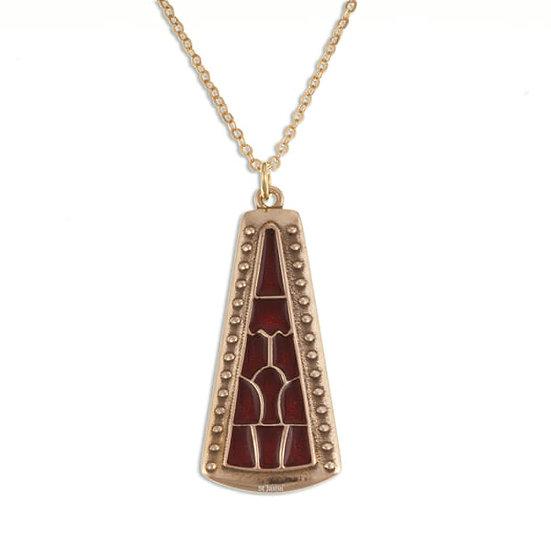 Staffordshire Hoard inspired pyramid pendant