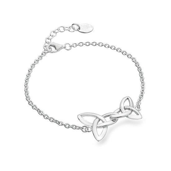 Celtic Trinity Lovers Linked Knots Bracelet