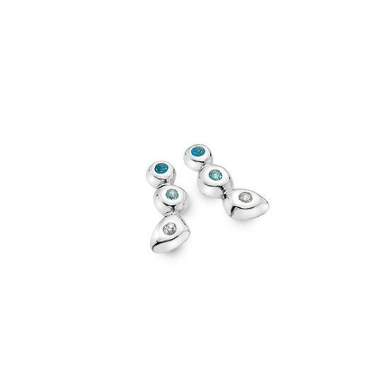Multi Topaz Stud earrings