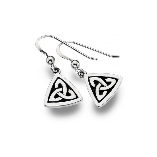 Celtic Trinity knot earrings with oxidised detailing
