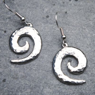Wave Spiral Earrings