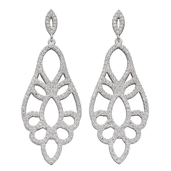 Lace effect drop earrings