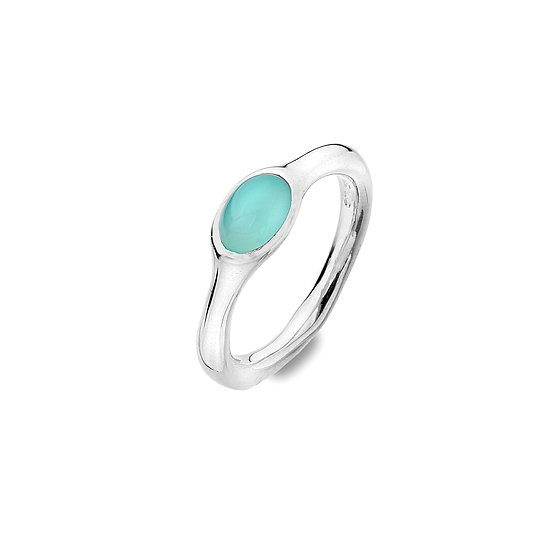 Blue Chalcedony Organic Ring