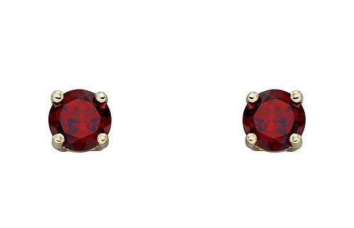Gold Birthstone Stud Earrings