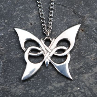 Celtic Butterfly Pendant, pewter