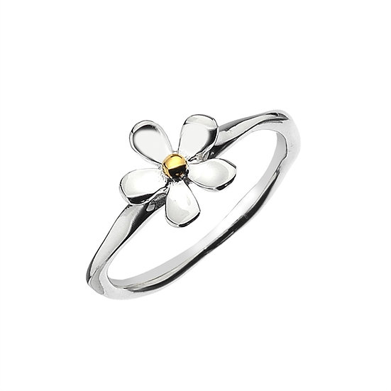 Daisy Ring with Brass centre