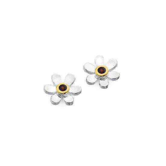 Birthstone Daisy stud Earrings