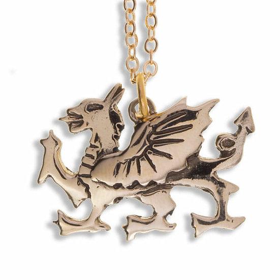 Welsh Dragon Pendant, Bronze