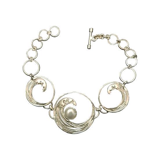 Hokusai Wave Bracelet