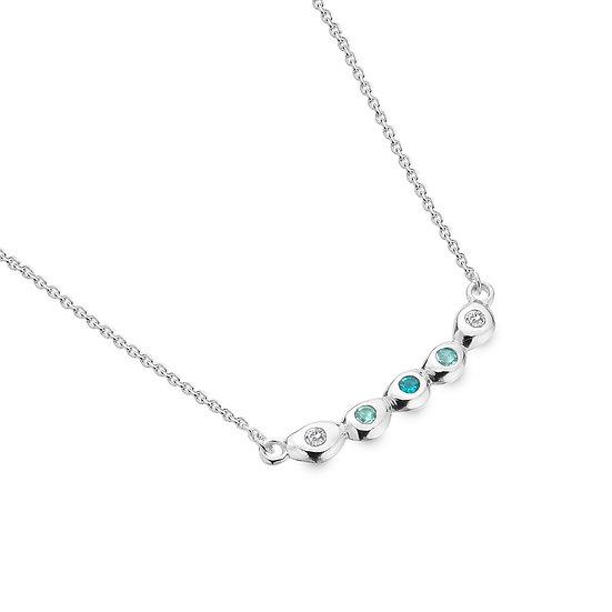 Multi Topaz Pebble Necklace