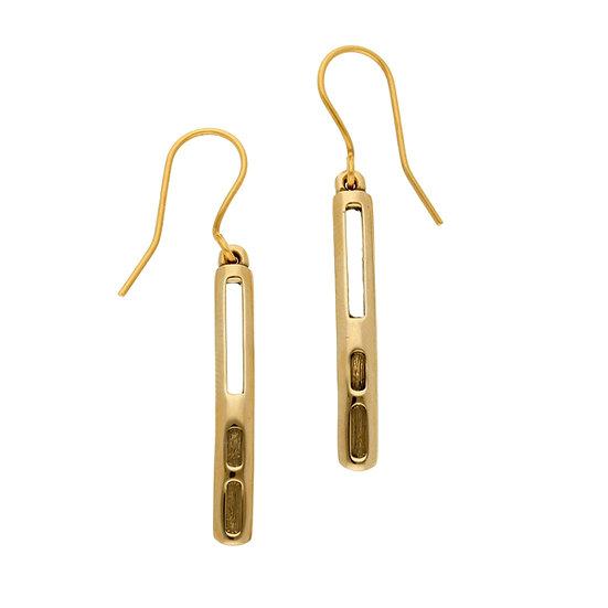 Bronze Driftwood drop earrings