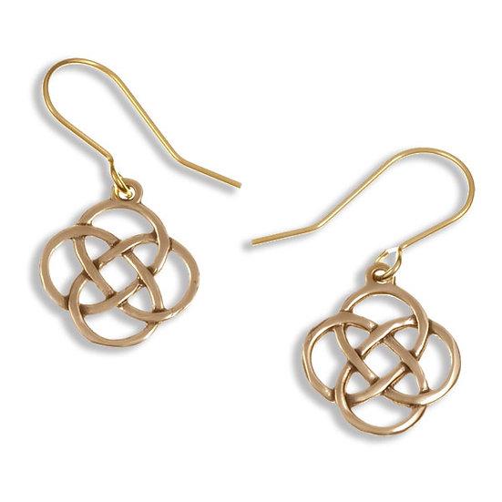 Four Loop Knot Drop Earrings