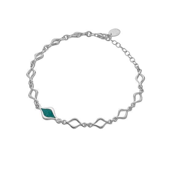 Liquid turquoise bracelet
