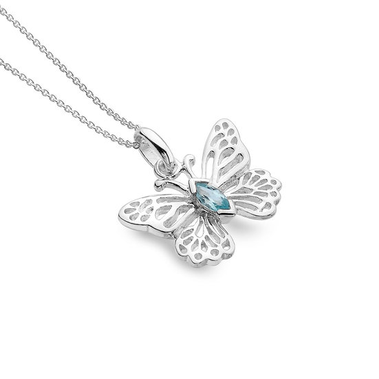 Butterfly pendant with Gemstone