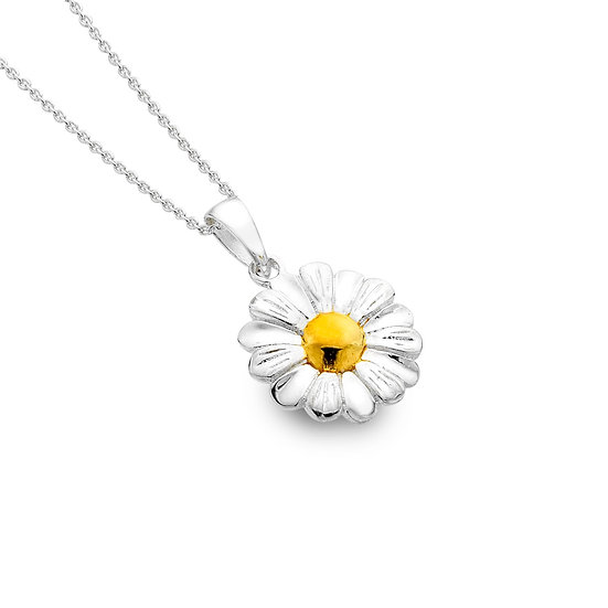 Gold Plated Daisy Pendant