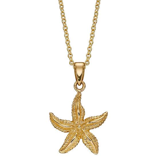Starfish Pendant, 9ct Gold