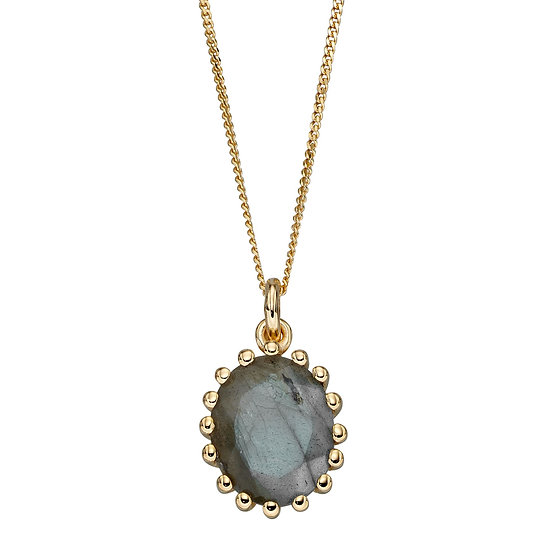 Blue Labradorite Gold Plated Pendant