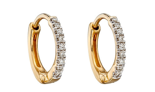 Diamond Huggie Earrings 10mm