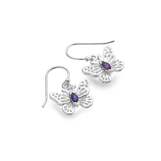 Butterfly earrings with Gemstone