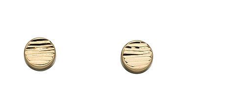 Textured Disc Stud Earrings