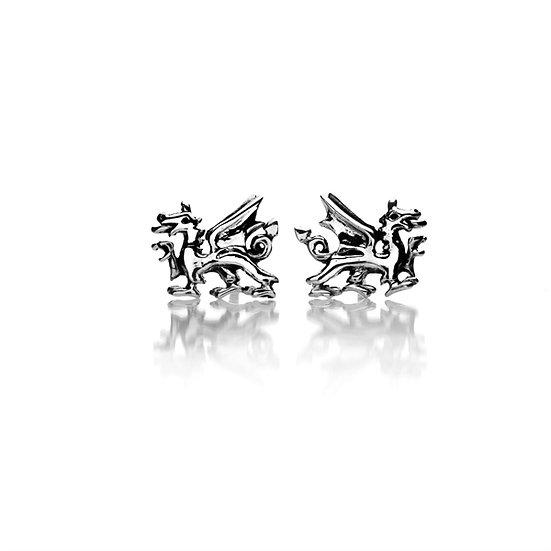 Celtic Welsh Dragon stud Earrings