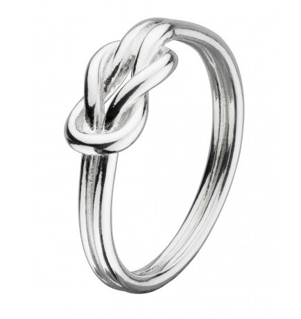 Celtic Silver Open Reef Knot Ring
