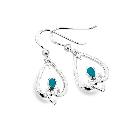 Celtic Heart Knot with gemstone earrings