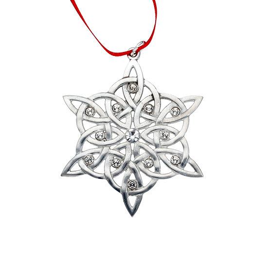 Crystal snowflake Christmas decoration