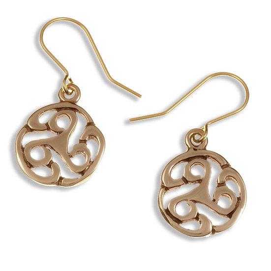 Apahida Triscele Drop Earrings - Bronze