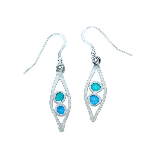 Silver Glas Mor Tamar enamelled earrings