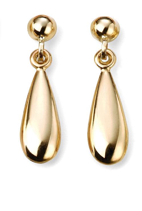 Yellow Gold Teardrop Earrings