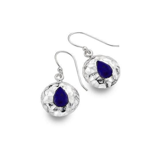 Seaside drop or stud earrings, Lapis Lazuli or Turquoise