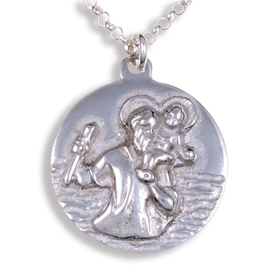 St Christopher Pendant (Small) -Tin