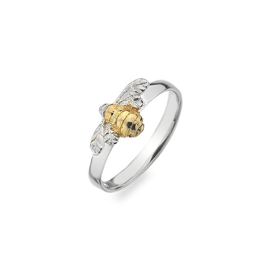 Gold Plated Silver Bee Ring