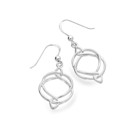 Celtic Trinity Entwined drop Earrings