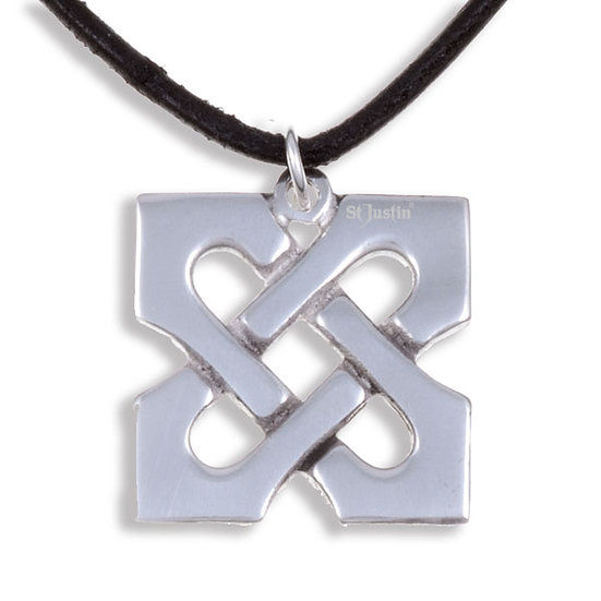 10th Anniversary X pendant - tin