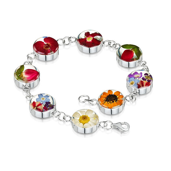 Mixed Real Flower Bracelet, choice of styles