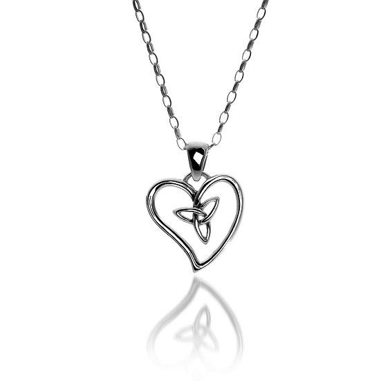 Celtic Trinity open Heart Pendant, small