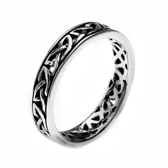 Celtic Loop Knotwork Ring, Narrow or Medium