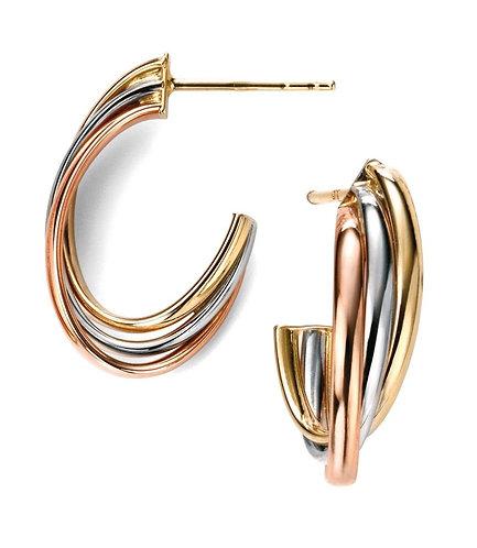 Russian Twist Hoop Earrings