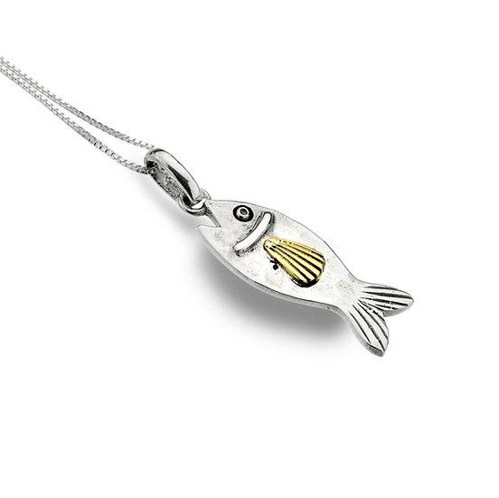 Fish Pendant, Silver