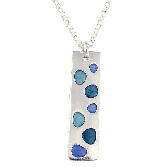 St Justin Glas Mor Cribbar enamelled pendant