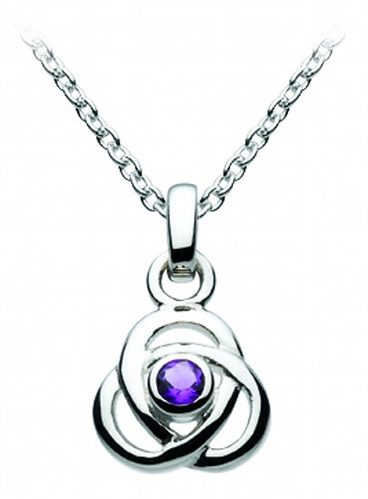 Celtic Oona Triscele Knot, Small, with Amethyst or Blue Topaz