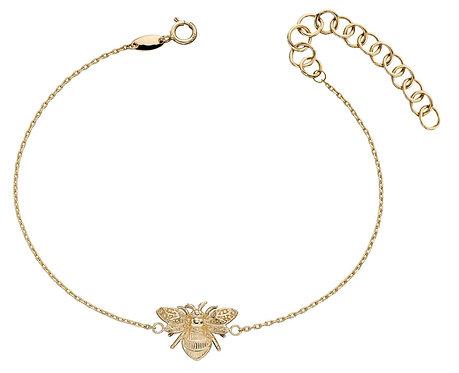 Yellow Gold Bee Bracelet