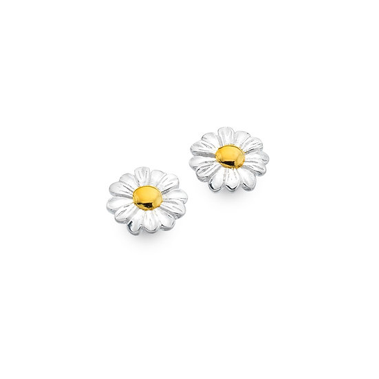 Gold Plated Daisy Studs