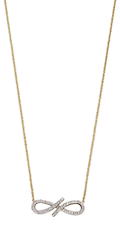 Diamond Encrusted Infinity Necklace